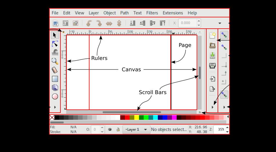 Default Inkscape window.