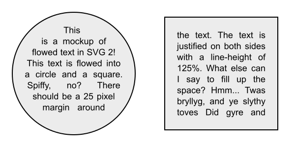 SVG 2 Flowed Text