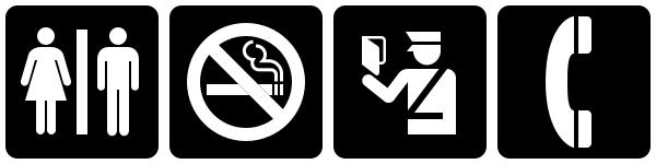 Examples of AIGA symbols.