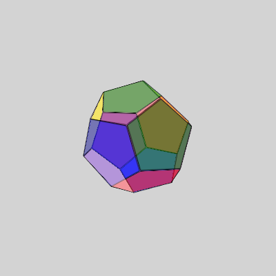 Multicolor Dodecahedron